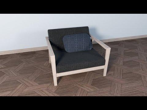 [SketchUp] Single Armchairs Sofa Modeling/Rendering Tutorial