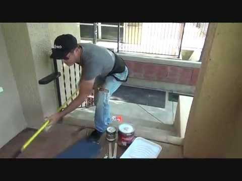 How to paint a concrete porch...Part 1
