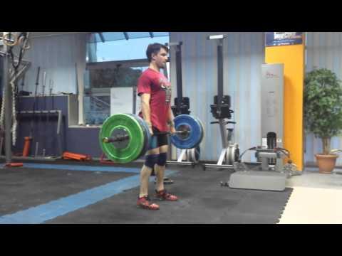 Hang clean n jerk 110kg