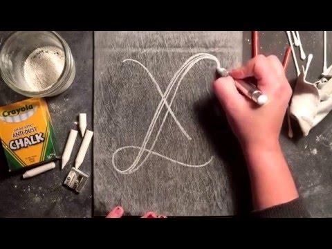 SheShe Design Chalk Script Lettering UPPERCASE X