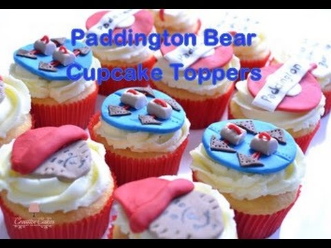 How to make Paddington Bear Cupcake Toppers from Creative Cakes by Sharon