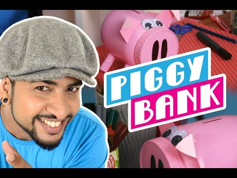 Mad Stuff with Rob – How to make a Piggy Bank   DIY Craft for Children   New Year's Special