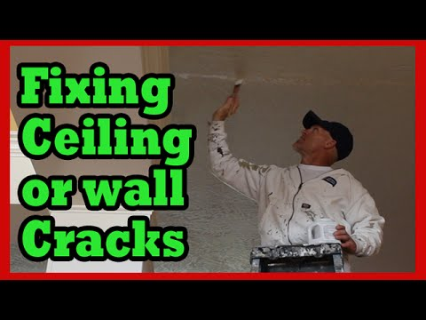 HOW TO FIX CEILING CRACKS.  Drywall repair hacks & sheetrock repair tips