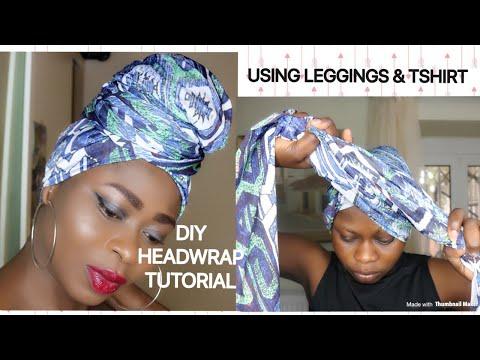 4 EASY & QUICK DIY Headwrap tutorial using Leggings & Tshirts /Turban style