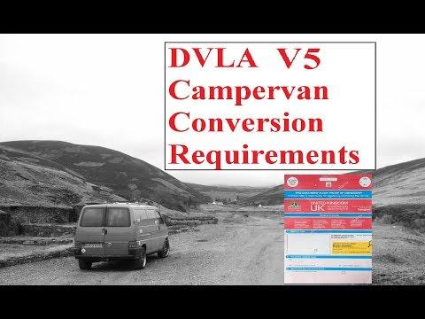DVLA  Campervan Conversion Requirements - How To Register A Van As A Campervan
