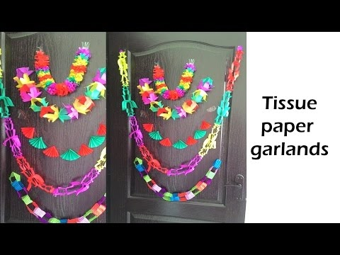 Five DIY tissue paper garland | DIY party decoration
