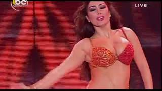 Elissar's Super Hot Belly dance in Red