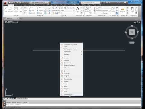 AutoCad choose the midpoint of a line