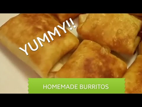 Mini Beef Beans & Cheese Burritos