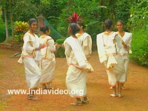 Margam Kali, Ritual, Art Forms, Syrian Christians, female dancers, Kottayam, Kerala, India