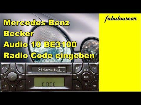 Radio Code Entry Eingabe enter eingeben | Mercedes Benz Becker Radio Audio 10 CC BE3100