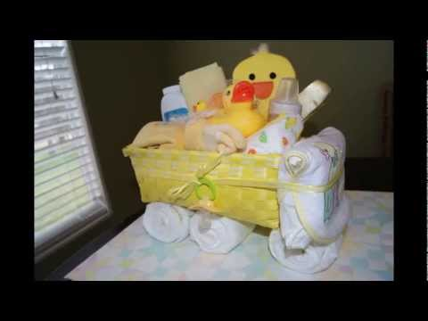 How to make a Non-Diaper Cake -TRUCK Gift Basket