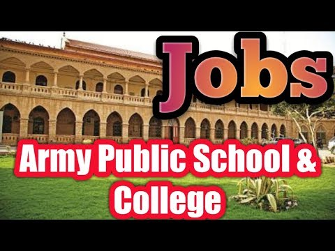 Jobs in Army Public School and College