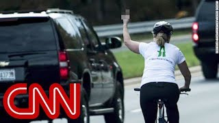 Woman who flipped off Trump runs for office