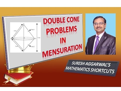 Trick 244 - Surface Area & Volume of DOUBLE CONE