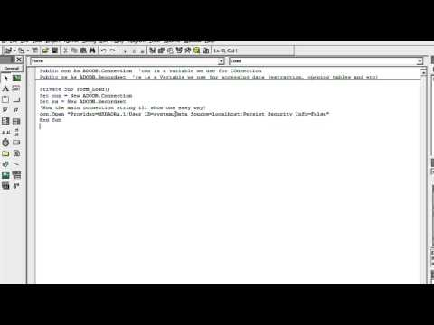 VB6 and Oracle Connection using Connection String!