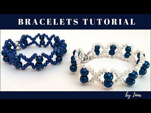 Easy beaded bracelet pattern in less than 10 min.👀