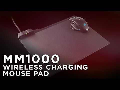 CORSAIR MM1000 Mouse Pad - Wireless Power, Always On hand
