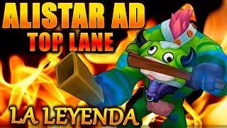 ALISTAR TOP AD RANKED! VUELVE LA SERIE LEGENDARIA! S+!! gameplay lol  eldelabarrapan