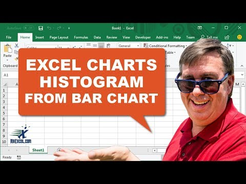 Learn Excel - Bar Chart into Histogram - Podcast 1952