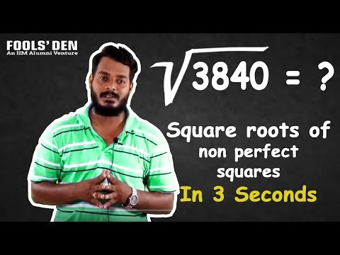 Square roots of Non perfect squares in 3 seconds
