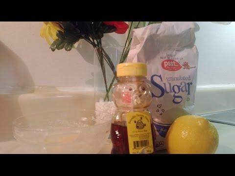 DIY Sugar, Lemon, Honey scrub