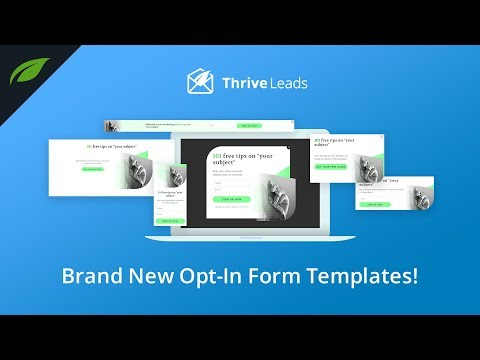 Modern Design for Your WordPress Opt-in Forms (by Thrive Leads)