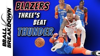 Damian Lillard 4th Quarter Take Over Lifts Blazers Over Thunder In Game 1