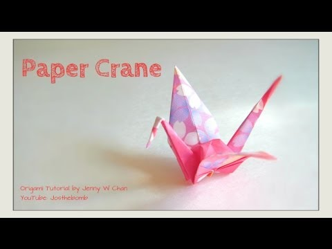 How to Fold a Paper Crane (Puffy Body) - Origami Tutorial