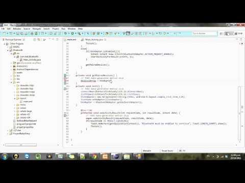 Android development Tutorial Bluetooth - 4