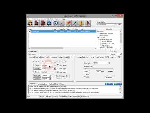 How to convert MP3 to AAC (iTunes-M4a) with Mediacoder