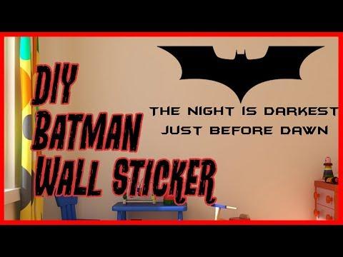 DIY Wall Sticker Decor - How to Make Batman Wall Sticker Decor From Scratch