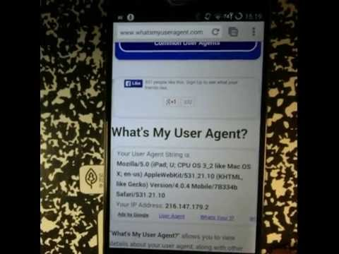 Using Chrome User Agent for Android