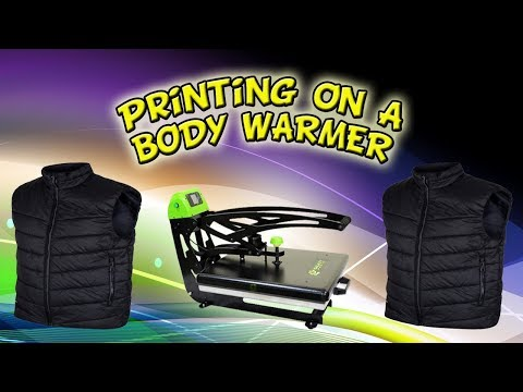 Printing On A Body Warmer With Clothing Vinyl