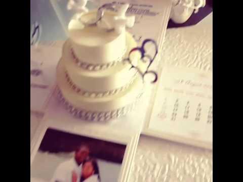 Exploding Box Wedding Invitations W 3 Tier Cake