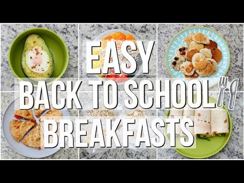 HEALTHY SCHOOL BREAKFAST IDEAS YOU NEED TO TRY