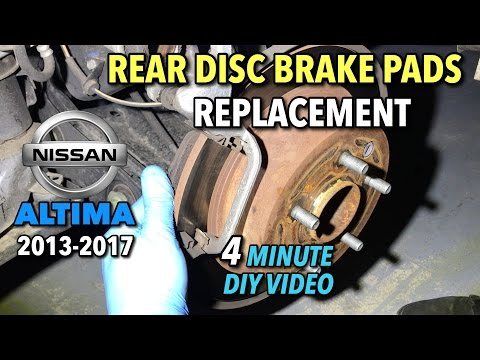 Nissan Altima Rear Brake Pads Replacement 2013-2017 - 4 Minute DIY Video