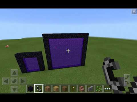 3 DIFFERENT SIZED NETHER PORTALS MCPE