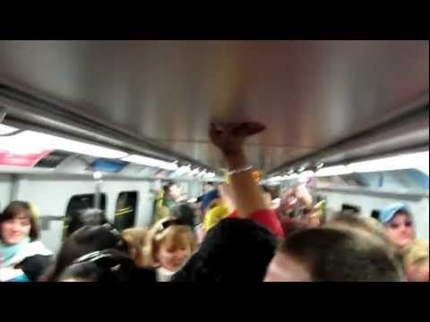 The Canadian National Anthem on the skytrain during the 2010 Winter Olympics