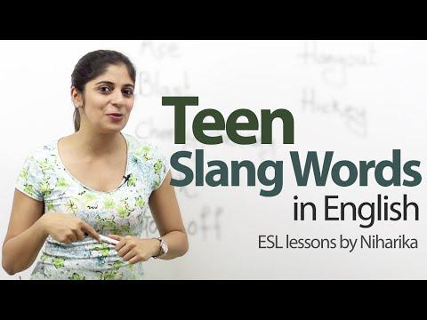 Teen Slang Words - Free English Lesson