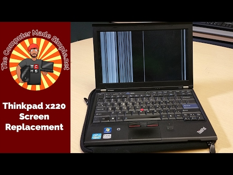 Laptop screen replacement / How to replace laptop screen [Thinkpad X220]