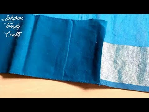 How To Stitch a Saree Fall Simple Tutorial