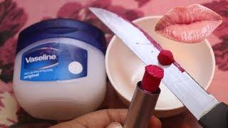 वेसिलीन से बनाये जबरदस्त लिप्सटीक | DIY matte liquid lipstick | Reuse your old lipstick