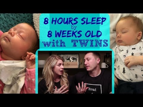 8 HOURS SLEEP BY 8 WEEKS OLD!!! TWINS ROUTINE & HOW TO