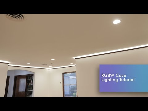 LED Strip Cove Lighting Install RGBW Tutorial