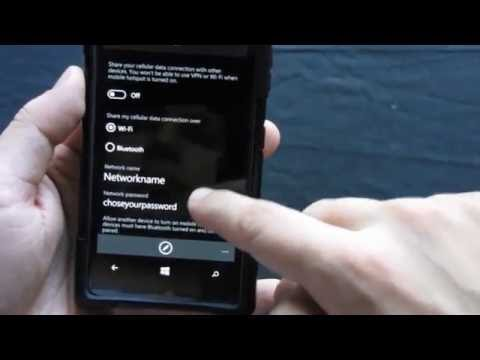 Windows 10 Mobile How to Enable Hotspot