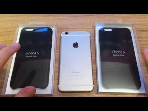 Genuine vs FAKE official Apple iPhone 6 Black Leather case review