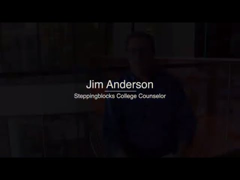 Steppingblocks College Advice - Jim Anderson on financial aid and student loans