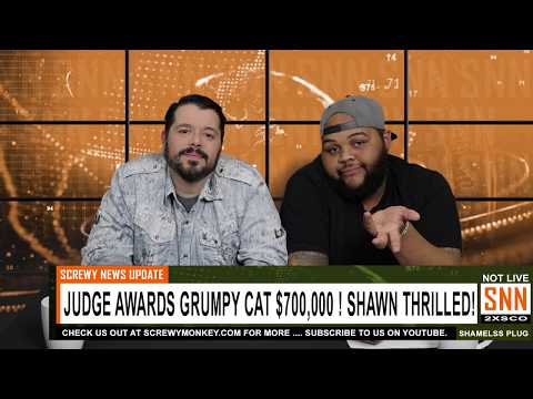 Judge Awards Grumpy Cat $700,000 - Shawn Thrilled! - SNN News Brief
