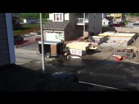 Hydraulic oil spill